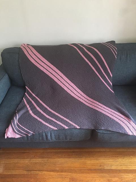 Grey & Pink Blanket
